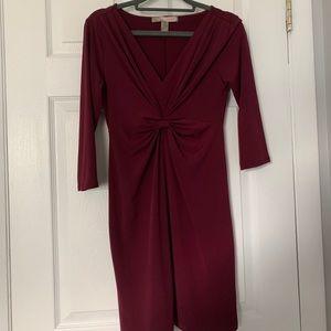 Forever 21 burgundy 3/4 sleeve bodycon dress